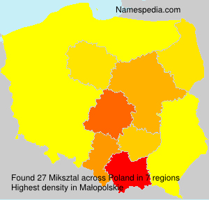 Surname Miksztal in Poland