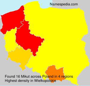 Surname Mikut in Poland
