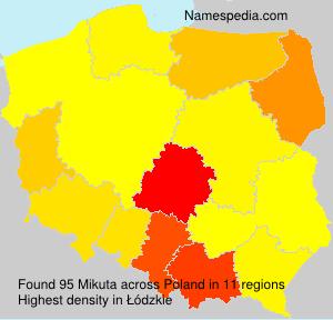 Familiennamen Mikuta - Poland