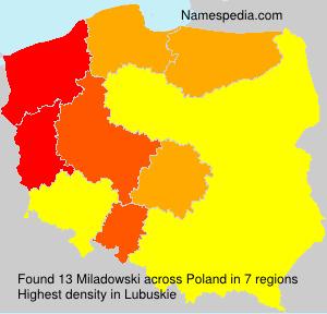 Familiennamen Miladowski - Poland