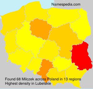 Familiennamen Milczek - Poland