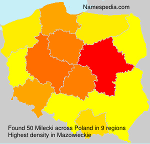 Surname Milecki in Poland