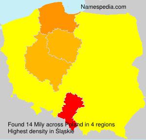 Surname Mily in Poland