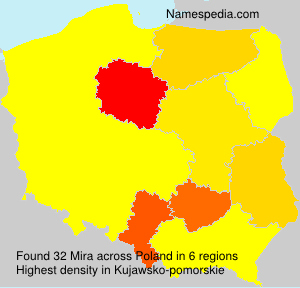 Surname Mira in Poland