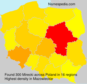 Surname Mirecki in Poland