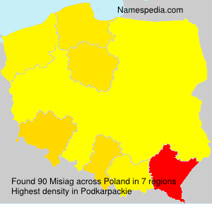 Surname Misiag in Poland