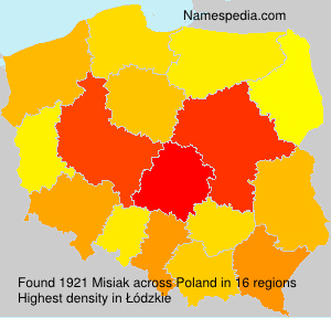 Surname Misiak in Poland