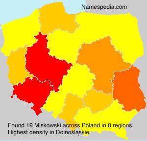 Familiennamen Miskowski - Poland
