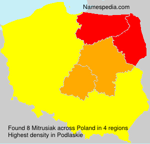 Surname Mitrusiak in Poland