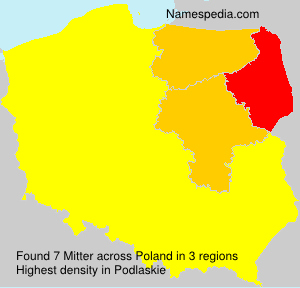Surname Mitter in Poland