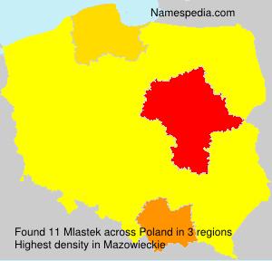 Surname Mlastek in Poland