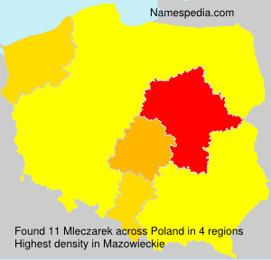 Familiennamen Mleczarek - Poland