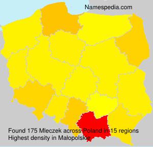 Surname Mleczek in Poland