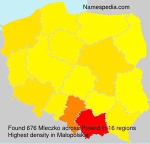Surname Mleczko in Poland