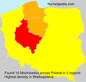 Surname Mnichowska in Poland