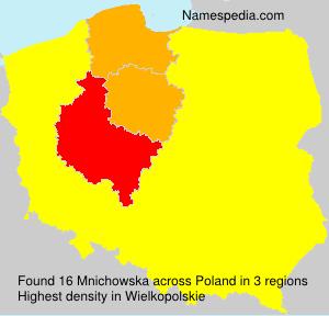 Surname Mnichowska in Poland