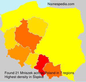 Surname Mniszek in Poland