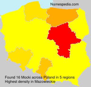 Surname Mocki in Poland