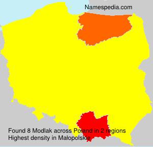 Surname Modlak in Poland