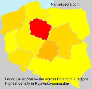 Familiennamen Modrakowska - Poland