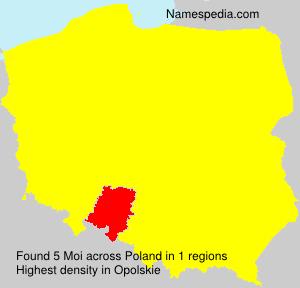 Surname Moi in Poland