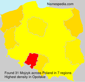 Surname Mojzyk in Poland