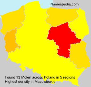 Surname Molen in Poland