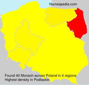 Familiennamen Monach - Poland