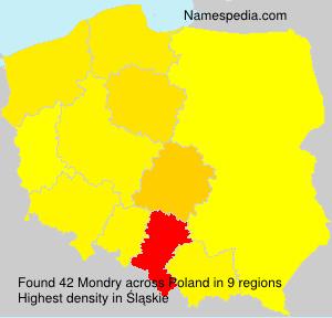 Surname Mondry in Poland