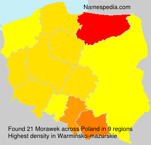 Surname Morawek in Poland
