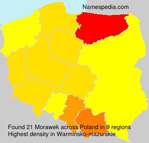 Surname Morawek in Poland