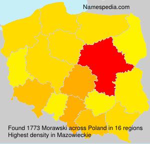 Surname Morawski in Poland