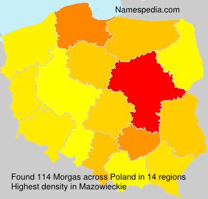 Familiennamen Morgas - Poland