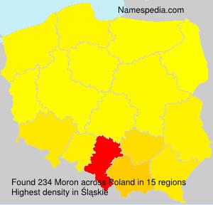 Surname Moron in Poland