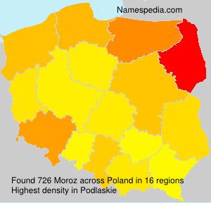 Surname Moroz in Poland