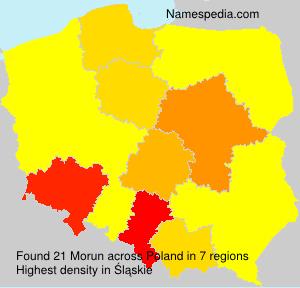 Surname Morun in Poland