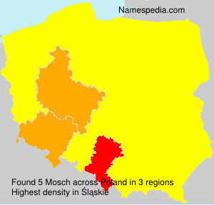 Surname Mosch in Poland
