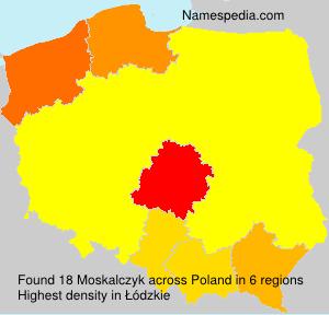 Surname Moskalczyk in Poland