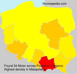 Surname Motor in Poland