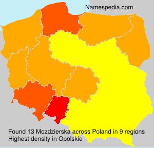 Surname Mozdzierska in Poland