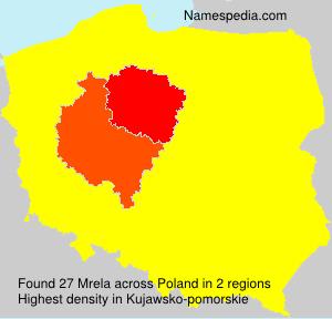 Surname Mrela in Poland