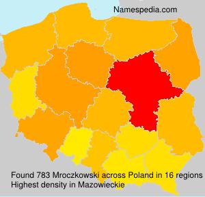 Surname Mroczkowski in Poland