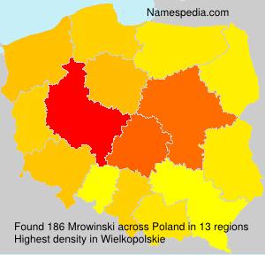 Surname Mrowinski in Poland