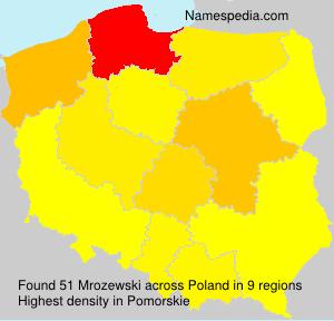 Familiennamen Mrozewski - Poland