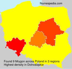 Familiennamen Mrygon - Poland