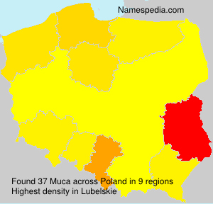 Surname Muca in Poland