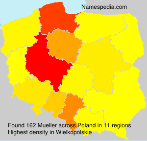 Surname Mueller in Poland