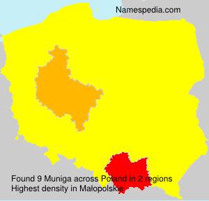 Surname Muniga in Poland
