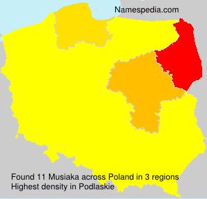 Surname Musiaka in Poland