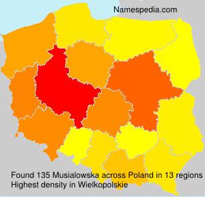 Familiennamen Musialowska - Poland